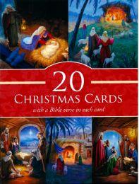 Christmas Card Box of 20 805002