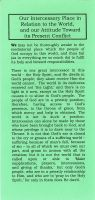 Our Intercessory Place in the World and Attitude towards its Present Conflict