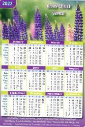 Pocket Calendar 2022 Flowers, 12 copies