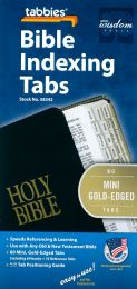 Bible Indexing Tabs, Mini Gold-Edged