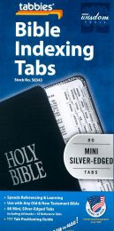 Bible Indexing Tabs, Mini Silver-Edged