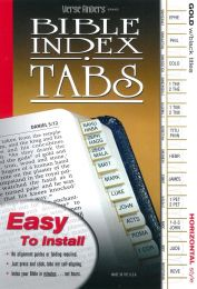 Bible Index Tabs, Gold with Black Titles
