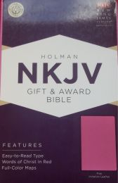 NKJV Gift&Award Pink Imitation Leather Bible 0465-2