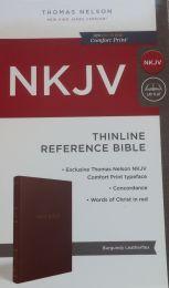 NKJV Thinline Reference Burgundy Leatherflex Bible 1783-1