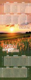 Bookmark Calendar 2021 (Lithuanian)