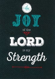 Blank Card, The Joy of the Lord is my Strength (4310)