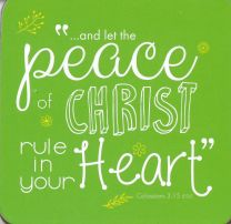 COASTER, PEACE OF CHRIST, C131
