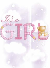 Baby Congratulation Card for a Girl