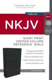 NKJV Giant Print Center-Column Reference Bible, Black Leathersoft 1774-9