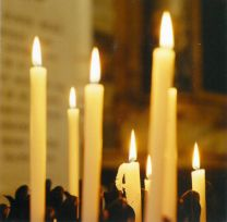 Christmas Card, Votive Candles, D1220