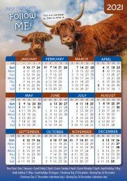 Pocket Calendar 2021 Cow, 12 copies