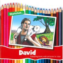 David - Colouring book with pictures to copy