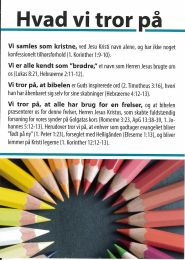 Danish, What we believe - as Christians gathered to the Lord's Name, (Hvad vi tror på)