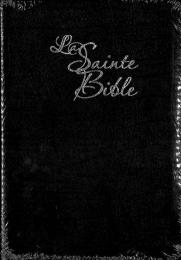 French Bible, Segond, LP, Black