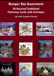 30 Assorted Traditional Christmas Cards