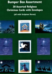 30 Assorted Religious Christmas Cards GMC067