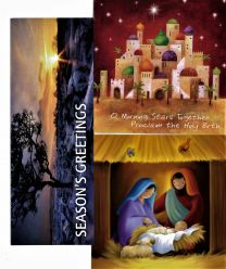 20 Assorted Christmas Cards  with Bible verses in each card