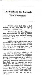 The Seal and the Earnest: The Holy Spirit