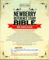 Newberry Reference Study Bible, Wide Margin Edition