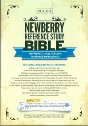 Newberry Reference Study Bible, Single Column Interleaved