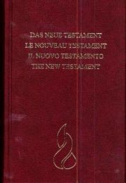 New Testament, French/German/Italian/English