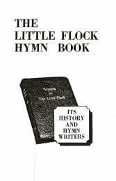 The Little Flock Hymn Book: Its History and Hymn Writers, 1881 Edition