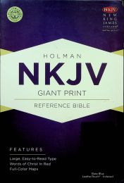 NKJV Giant Print SlateBlue LeatherTouch Thumb-Indexed Reference Bible 0474-4