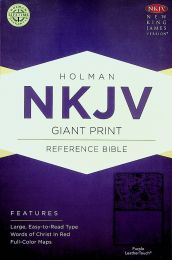 NKJV Giant Print Purple LeatherTouch Reference Bible 0475-1
