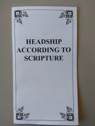 Headship according to Scripture