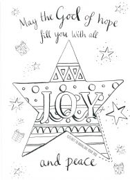 Christmas Card, Joy Colouring Cut Out, CP16