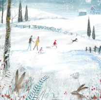 Christmas Card, Winter Landscape, M1684