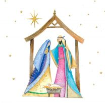 Christmas Card, Mary and Joseph, 18244
