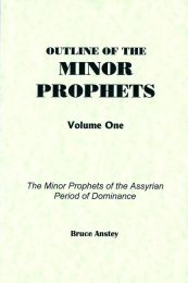 Outline of the Minor Prophets Volume One