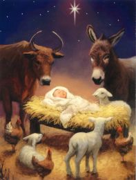 Christmas Card, Away in a Manger, 16122