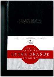 Bilingual Spanish Reina Valera/KJV Bible, Large Print