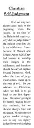 Christian Self-Judgment