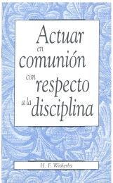 Acting in Fellowship in Matters of Discipline (Spanish)