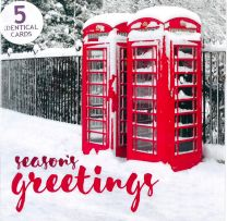 Christmas Cards, Telephone Booth, 5 Cards TC80060/4